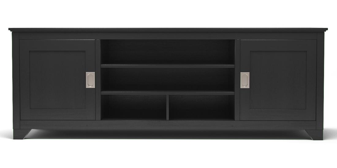 """Carolina 70"""" TV Console in Matte Black"""