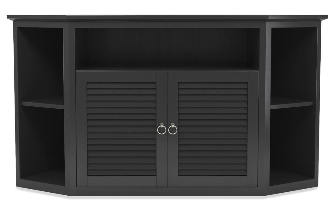 """Aspen 52"""" TV Corner Console in Matte Black"""