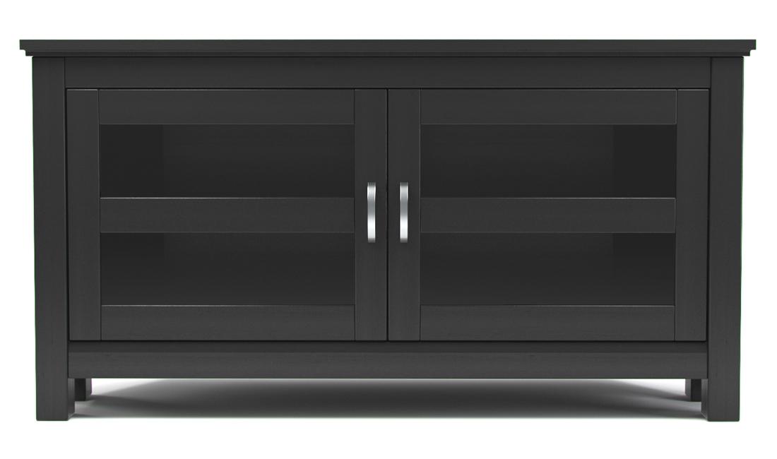Rumford 44 Inch Corner TV Console - Black