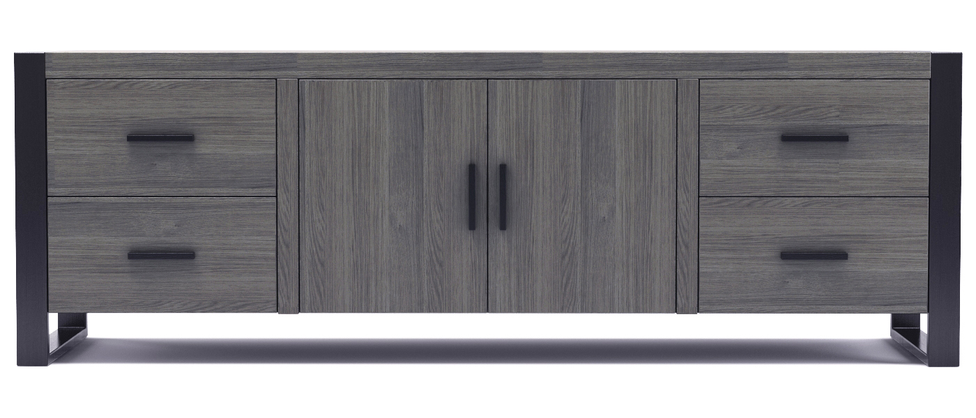 "Dexter 70"" TV Stand in Ash Grey and Black"