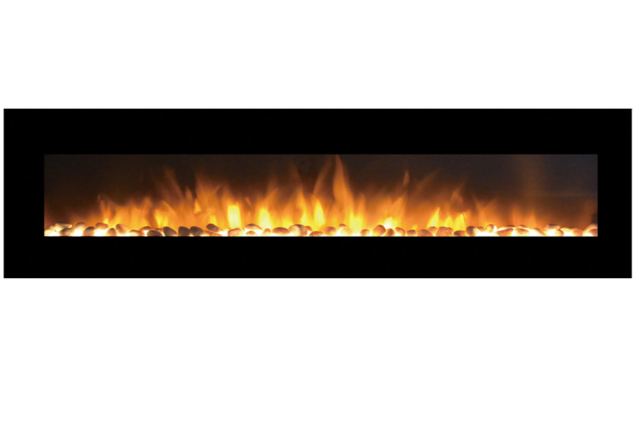 "95"" Grand Pebble Wall Mounted Electric Fireplace"