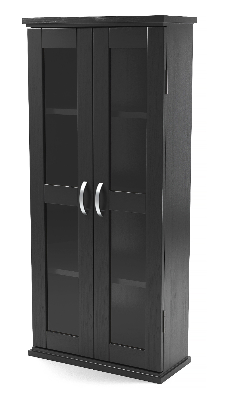 "Kirkwell 41"" Wood DVD Tower in Black"