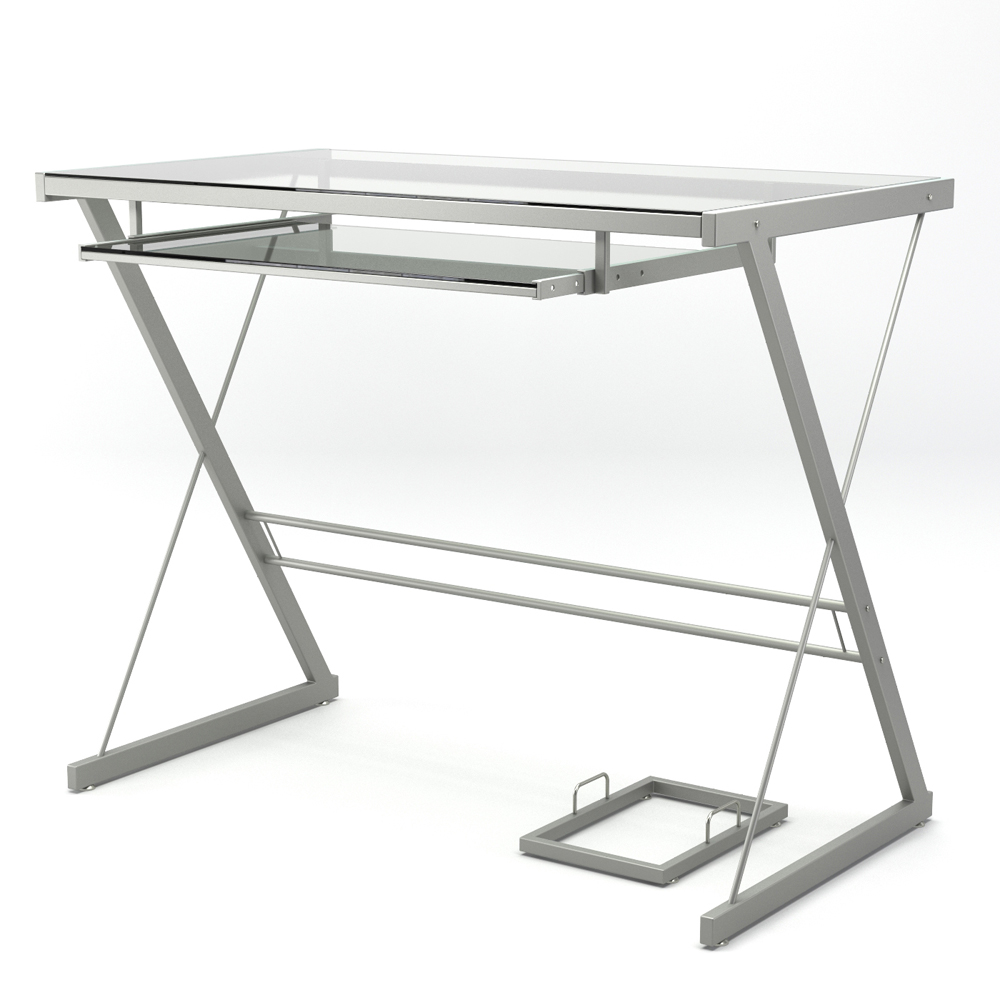 Becker Computer Desk in Silver