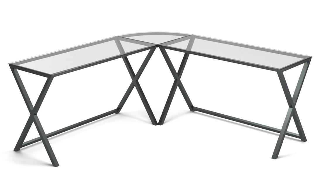 Keeling X Frame Computer Desk