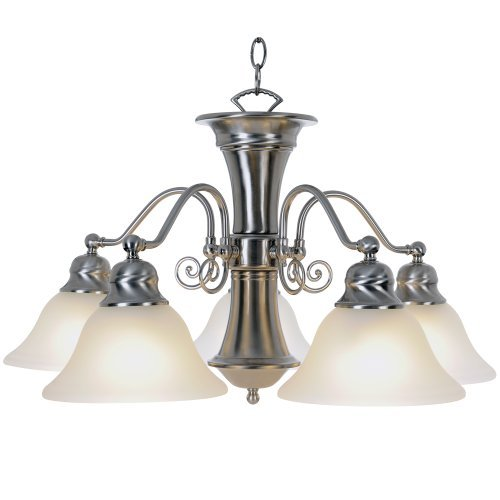 "24"" Wellington™ 5 Lights Chandelier Ceiling Fixture , Brushed Nickel"