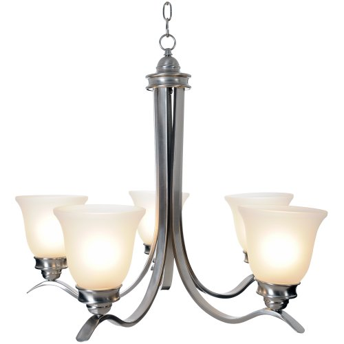 "27.5"" Sanibel™ 5 Lights Chandelier Ceiling Fixture, Brushed Nickel"