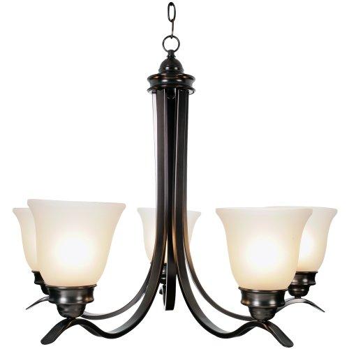 """27.5"""" Sanibel™ 5 Lights Chandelier Ceiling Fixture, Oil Rubbed Bronze"""