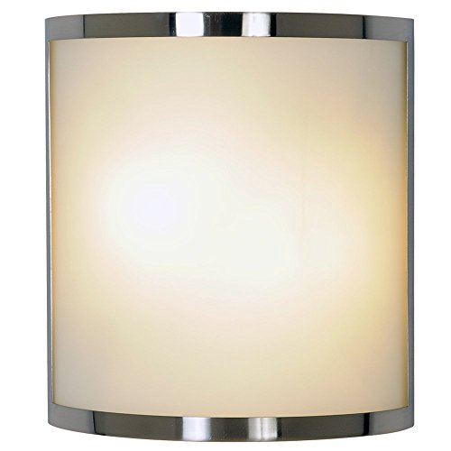 MONUMENT CONTEMPORARY WALL SCONCE FIXTURE, MAXIMUM TWO 60 WATT INCANDESCENT MEDIUM BASE BULBS, 10 IN., BRUSHED NICKEL