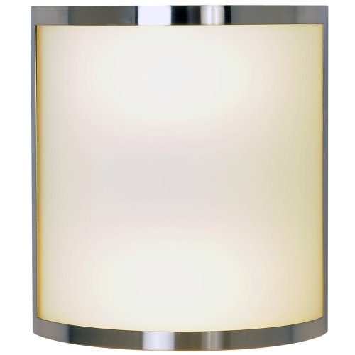 CONTEMPORARY WALL SCONCE FIXTURE WITH TWO 13 WATT GU24 TYPE FLUORESCENT LAMPS, 10 IN., BRUSHED NICKEL