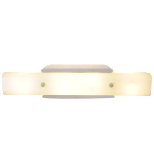 "24"" Royal Cove Panel Light Wall Mount Fixture, Uses 4 60W Incandescent Medium Base Bulbs, White"