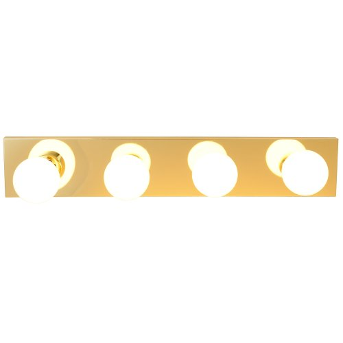 "ROYAL COVE VANITY STRIP LIGHT FIXTURE, 24"", POLISHED BRASS, USES 4 60-WATT INCANDESCENT G25 MEDIUM BASE BULBS"