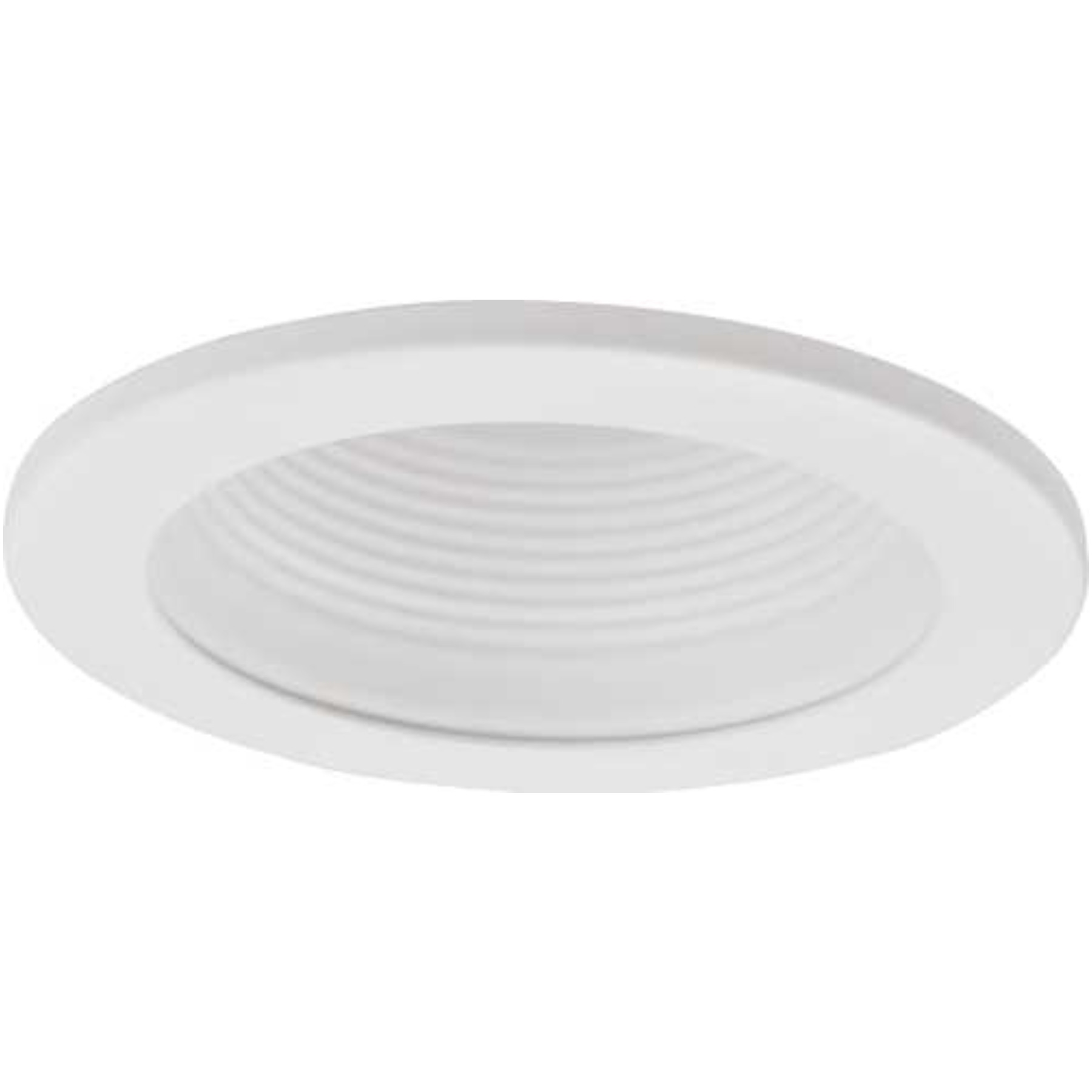 """MONUMENT RECESSED LIGHTING UNIVERSAL 4"""" WHITE METAL BAFFLE WITH WHITE METAL TRIM RING"""