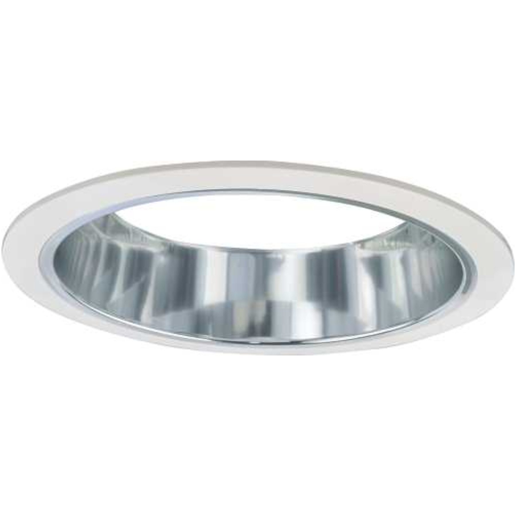"MONUMENT RECESSED LIGHTING 6"" CHROME ALZAK REFLECTOR WITH WHITE TRIM RINGS"