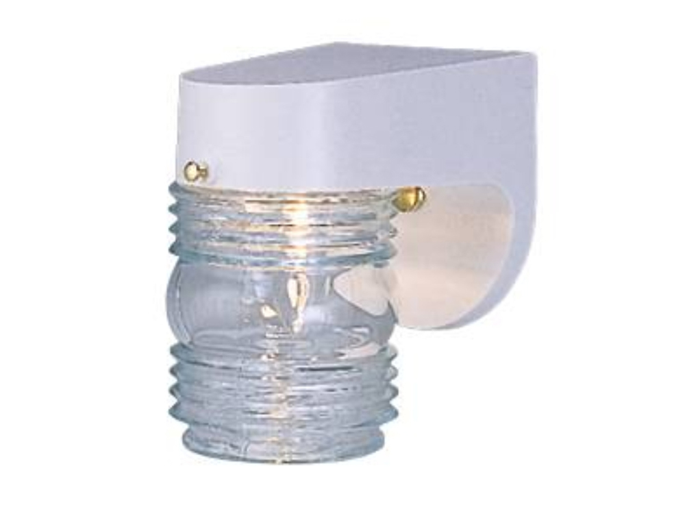OUTDOOR PORCH LIGHT FIXTURE JELLYJAR WHITE