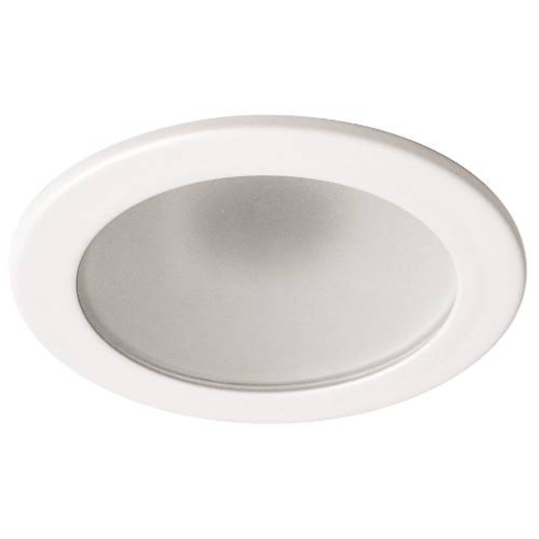 MONUMENT� 4 IN. RECESSED VAPOR TRIM, LOW VOLTAGE, FROSTED GLASS WITH WHITE RING, 4-7/8 X 3-1/2 IN.