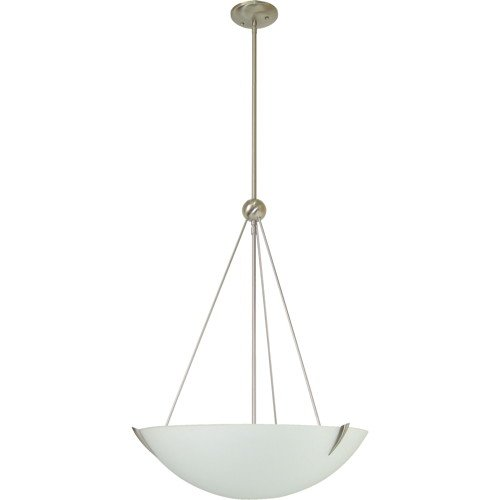 MONUMENT� 2-LIGHT PENDANT WITH SANDBLASTED GLASS, BRUSHED NICKEL, 17 X 41-1/2 IN., 3 60-WATT E26 BASE BULB (NOT INCLUDED)