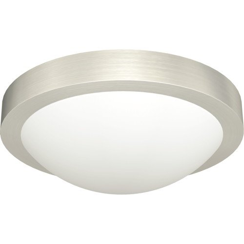 MONUMENT� FLUSH-MOUNT CEILING FIXTURE, BRUSHED NICKEL, 11 X 3-3/4 IN., 1 18-WATT GU24 BASE BULB INCLUDED
