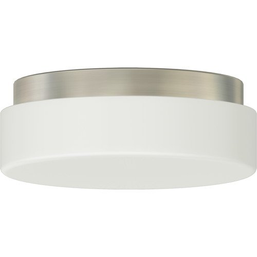 MONUMENT� FLUSH-MOUNT CEILING FIXTURE, BRUSHED NICKEL, 9-1/2 X 3-5/8 IN., USES 1 18-WATT GU24 BASE LAMP (NOT INCLUDED)