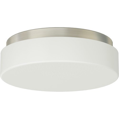 MONUMENT� FLUSH-MOUNT CEILING FIXTURE, BRUSHED NICKEL, 11-1/2 X 4 IN., USES 2 13-WATT GU24 BASE LAMPS (NOT INCLUDED)