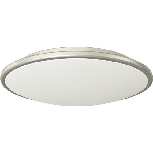 MONUMENT� FLUSH-MOUNT CEILING FIXTURE, BRUSHED NICKEL, 16-3/4 X 3-3/4 IN., 4 18-WATT GU24 BASE BULB INCLUDED