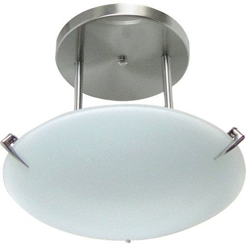 MONUMENT� SEMI FLUSH CEILING FIXTURE, BRUSHED NICKEL, 12 IN., USES 2 60-WATT E26 BASE BULB (NOT INCLUDED)