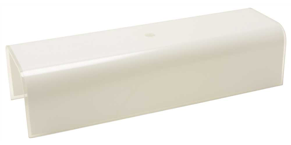MONUMENT� U-CHANNEL CEILING FIXTURE REPLACEMENT GLASS, WHITE, 12 IN.,