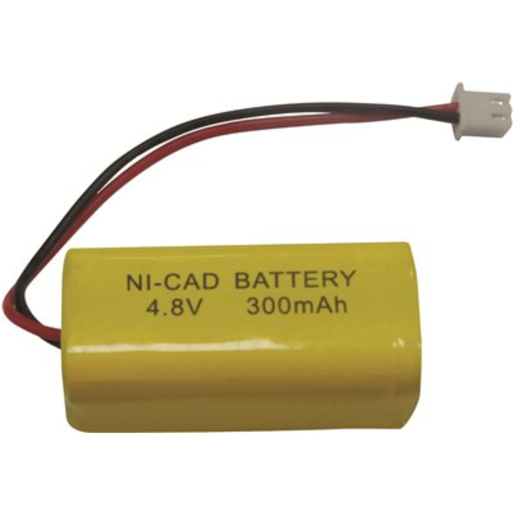 MONUMENT EXIT SIGN REPLACEMENT RECHARGEABLE NICAD BATTERY, 4.8 VOLT, 300MAH