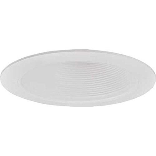 MONUMENT RECESSED LIGHTING 6 IN. WHITE METAL BAFFLE WITH WHITE TRIM RING