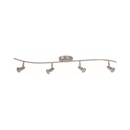 MONUMENT� 4-LIGHT TRACK FIXTURE, BRUSHED NICKEL, 31 X 4-1/2 X 6 IN., USES (4) 40-WATT GU10 BASE LAMPS (INCLUDED)*