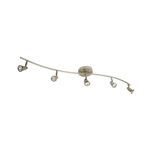 MONUMENT� 5-LIGHT TRACK FIXTURE, BRUSHED NICKEL, 40 X 4-1/2 X 6 IN., USES (5) 40-WATT GU10 BASE LAMPS (INCLUDED)*
