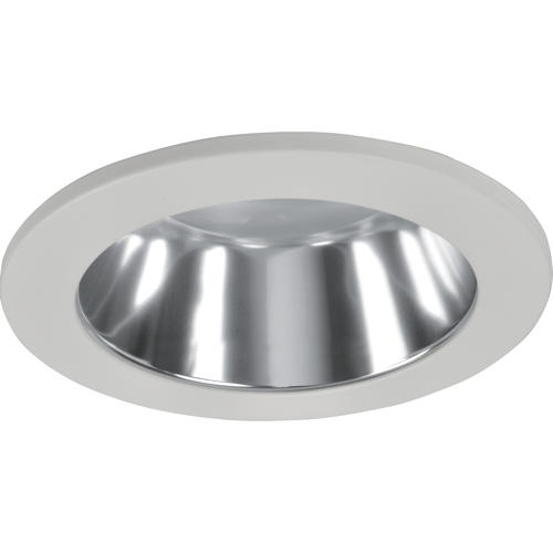 MONUMENT RECESSED LIGHTING UNIVERSAL 4 IN. ALZAK BAFFLE CHROME REFLECTOR WITH WHITE TRIM RING