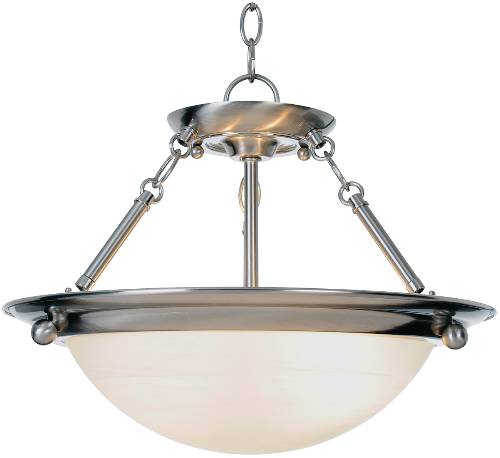 CONTEMPORARY PENDANT CEILING FIXTURE, MEDIUM BASE, 15-1/2 IN. X 13-1/4 IN., BRUSHED NICKEL