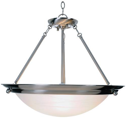 CONTEMPORARY PENDANT CEILING FIXTURE, BRUSHED NICKEL, 21 1/2 IN.