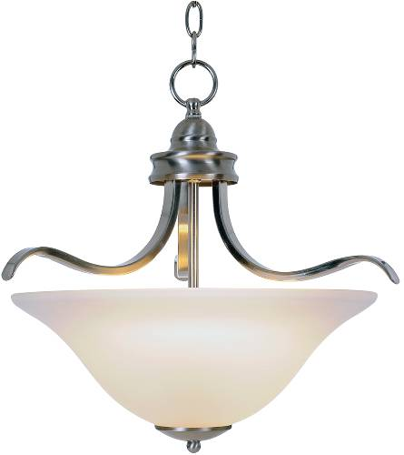 SANIBEL� PENDANT CEILING FIXTURE WITH ONE 55 WATT COMPACT TYPE FLUORESCENT LAMP, 17-1/2 IN., BRUSHED NICKEL