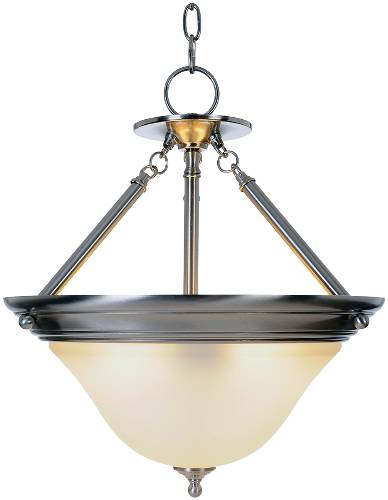 SONOMA� PENDANT FIXTURE WITH ONE 40 WATT COMPACT TYPE FLUORESCENT LAMP, 15-1/2 IN., BRUSHED NICKEL