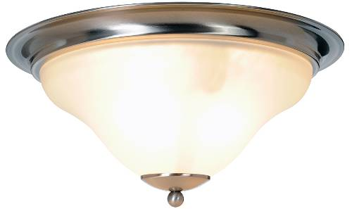 SANIBEL� FLUSH MOUNT CEILING FIXTURE, MAXIMUM THREE 60 WATT INCANDESCENT MEDIUM BASE BULBS, 16 IN., BRUSHED NICKEL
