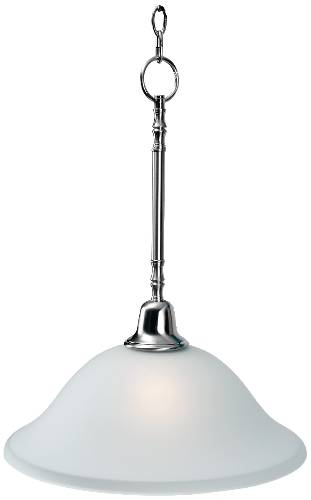 SONOMA� PENDANT DOWN LIGHT FIXTURE, MAXIMUM ONE 100 WATT INCANDESCENT MEDIUM BASE BULB, 15 IN., BRUSHED NICKEL