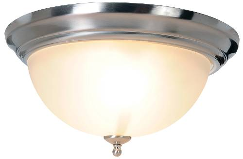 SONOMA� FLUSH MOUNT CEILING FIXTURE, MAXIMUM TWO 60 WATT INCANDESCENT MEDIUM BASE BULBS, 15-1/2 IN., BRUSHED NICKEL