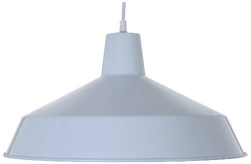 TRADITIONAL PENDANT FIXTURE WITH 48 IN. CORD, MAXIMUM ONE 100 WATT INCANDESCENT MEDIUM BASE BULB, 16 IN., WHITE