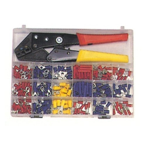 200 Piece Terminal Kit with Controlled Cycle Crimp Tool