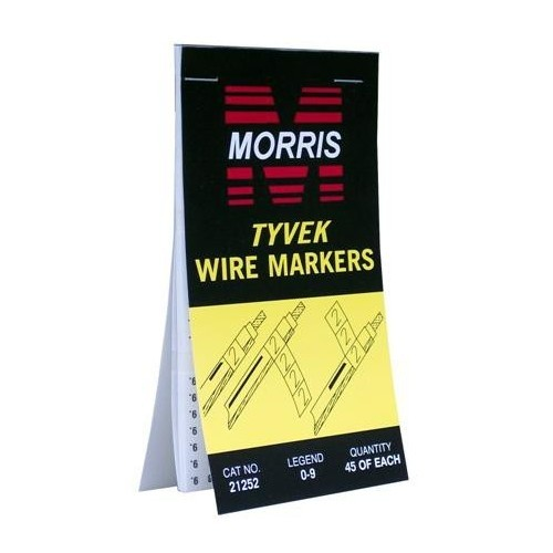 Wire Marker Booklets 0-9 Tyvek