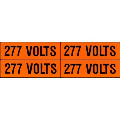 Voltage Markers (4) 277V (5 Pack)