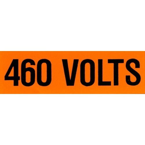 Voltage Markers (1) 460V (5 Pack)
