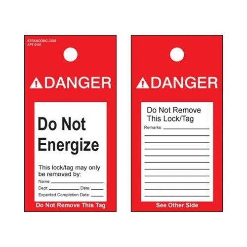 Lockout Tags 'Do Not Operate' (w/clear photo flap)' (5 Pack)