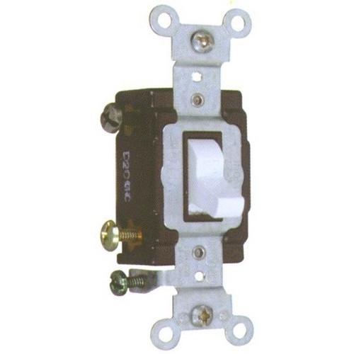 Commercial 3 Way Toggle Switch Ivory 20A-120/277V