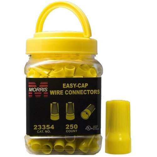 Easy-Cap Wire Connectors Yellow Small Jar