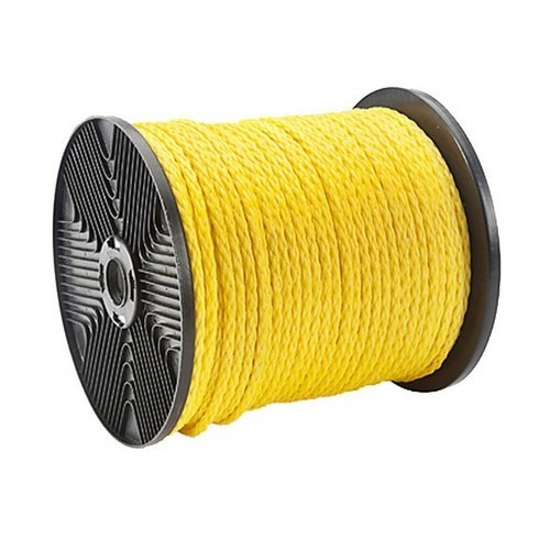 """Twisted Polypropylene Pull Rope 1/4"""" Dia  600 ft  1125 lb Tensile"""