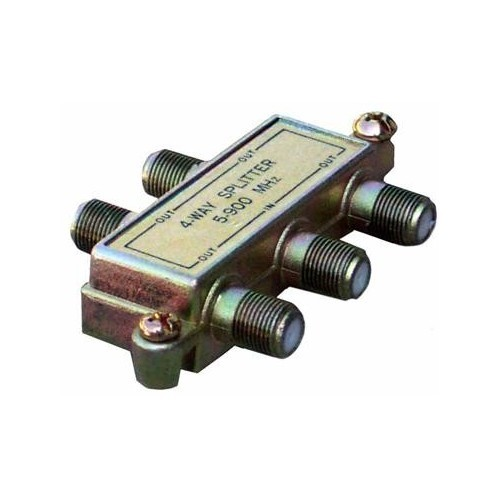 4 Way Splitters with Ground Block 5-900 Mhz