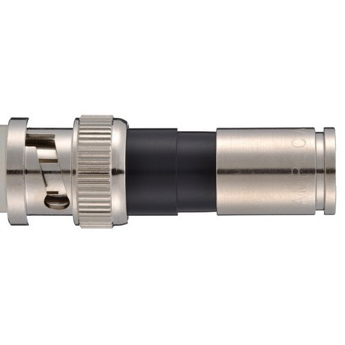 BNC Male Compression Connectors RG6U Quad Shield