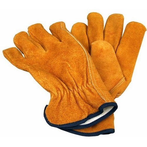 Yellow Cow Split Leather Glove Unlined